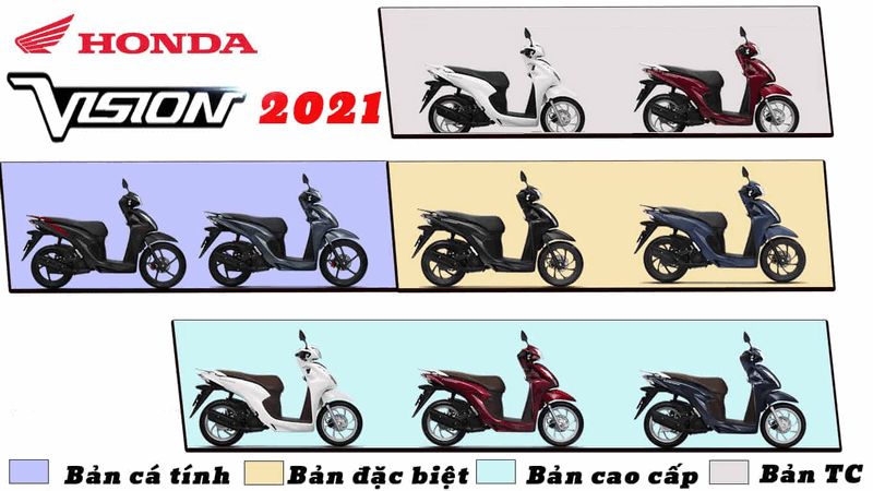 Màu xe Vision 2021